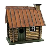 Carson 63420 Log Cabin Birdhouse, 5.25-Inch Length
