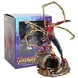 YUEDAI Avengers Infinity War Iron Spider Statue Spiderman PVC acción Figura Coleccionable Modelo de Juguete (Color : A 21cm Box)