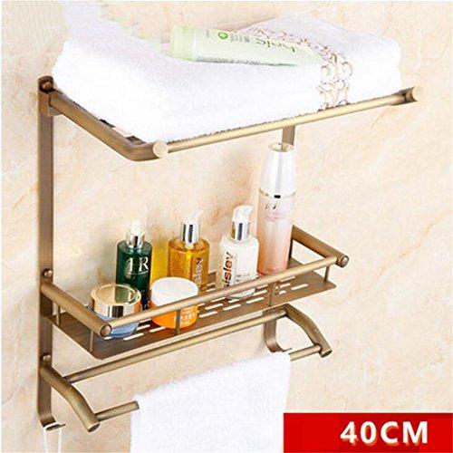 FAFZ Salle de bain Etagère, Salle de bain Etagère de style européen, Double-couche de bain rack (couleur : # 3)