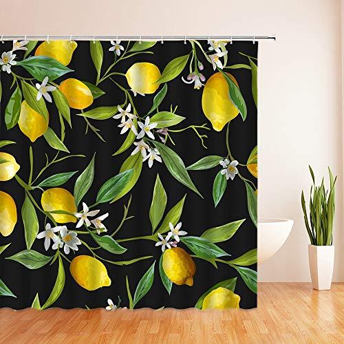 XCBN Tropischer grüner Pflanzenbaum Duschvorhang wasserdichter Duschvorhang waschbarer Badezimmertrennvorhang A17 150x200cm