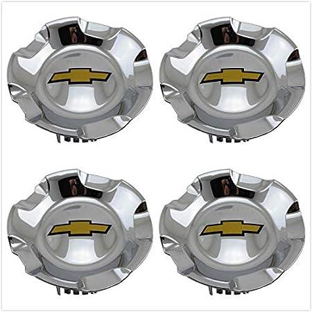 """Tuxo 4X Silver for Chevy 2007-13 Siverado Tahoe Avalanche Suburban1500 20"""" Wheel Hubcap Wheel Center Hub Cap Replace# 9597686 (Chrome)"""