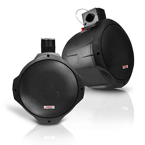 Pyle Wasserdichte Lautsprecher 6.5-Zoll 200-Watt Zwei-Weg Wakeboard, Schwarz, PLMRB65