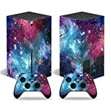 Xbox Series X Skin Stickers Decal Full Body Vinyl Cover for Microsoft Xbox Series X Console and Controllers (Galaxy)