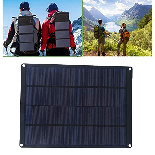 KUIDAMOS Cargador de Panel Solar para Exteriores, Panel Solar de Poco Ruido de 10 W para Ciclismo al Aire Libre, Senderismo para Acampar