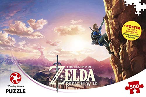 Winning Moves- Gioco di Puzzle La Leggenda di Zelda Breath of The Wild, Colore Misura Standard, WIN11231