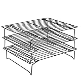➤【PERFECT SIZE】Measuring: 34 x 24.5 x 7cm / 13.39 x 9.65 x 2.76 inch (Single layer),The nice large size of cooling rack is suitable for multi people barbecue while have party in villas, lawns, rooftops and other places. ➤【COOLING RACK】Grid net design...