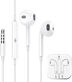イヤホン 有線 イヤホン アイフォン イヤホン ライトニング イヤホン ヘッドホン ステレオイヤホン マイク/リモコン付き 付きイヤホン HIFI高音質 通話可能 すべてのシステムと互換性のある3.5 mmジャックのすべてのモデルをサポート(白い)