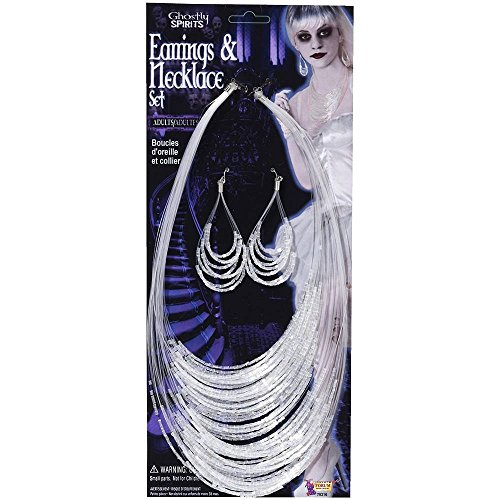 Forum Novelties Ghostly Spirits Earring & Necklace Costume Jewelry Set One...