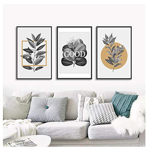 kaxiou moderne Scandinavische kunstdruk van Grigi geometrisch fotobehang op canvas, foto's voor muren, woonkamer, woondecoratie, 40 x 60 cm, zonder lijst