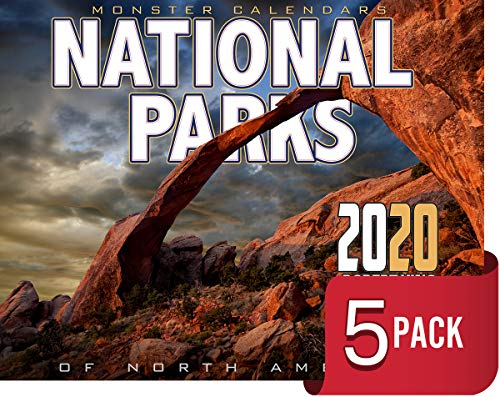 Price comparison product image 2020 National Parks Calendar 2020 (5-Pack) of North America by The KING Company / Monster Calendars