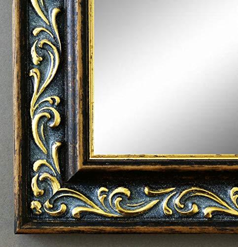 Spiegel Wandspiegel Badspiegel Flurspiegel Garderobenspiegel - Über 200 Größen - Verona Braun Gold 4,4 - Größe des Spiegelglases 50 x 100 - Wunschmaße auf Anfrage - Antik, Barock