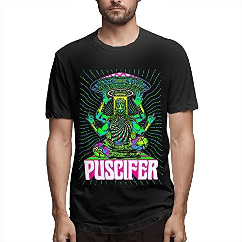 TroyDWom Puscifer Men's Crew Neck T-Shirts,Cotton Many Sizes Hip Hop T-Shirt Black