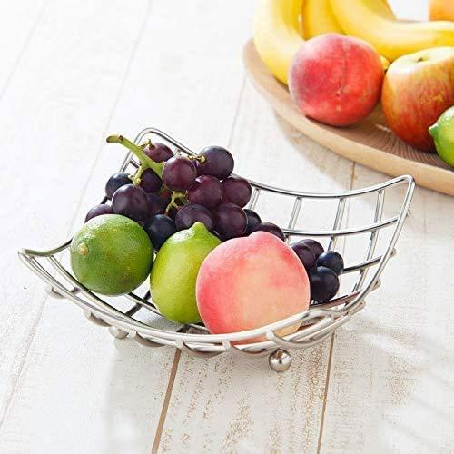 SYXX Fruit Basket Fil plaquent Fruit Bowl, légumes Lavage Panier de Rangement for la Cuisine, en métal Grille de vidange Baske, séjour Cuisine Panier de Rangement ménager, Arts de la Table de fête