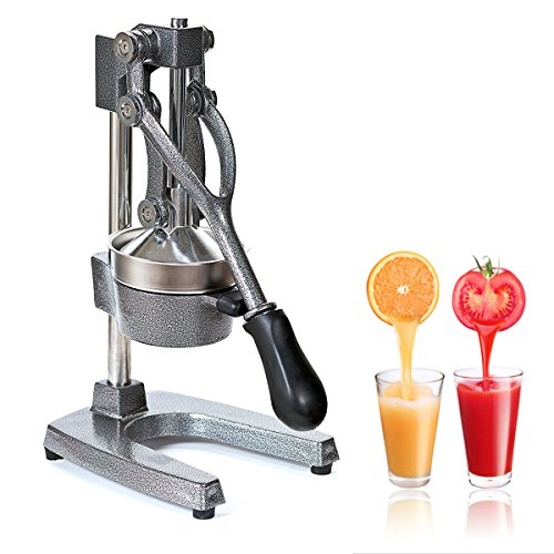Zonman Juice Extractor Manual Hand Crank Press Stainless Steel Home Use Citrus Juicer (Grey)