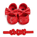 Zapatos Bebé Niña+Diademas SHOBDW Regalo Flores Suela Suave Antideslizante...
