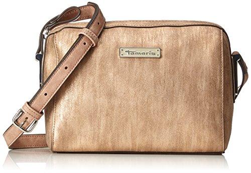 Tamaris Damen Nadine Crossbody Bag Umhängetasche, Gold (Copper Comb.), 9,5x16x21 cm