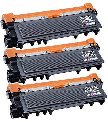 3 cartuchos de Tóner Compatible con Brother Tn2320 Alta Capacidad DCP-L2520DW , HL-L2300D , HL-L2340DW , HL-L2360DN , HL-L2365DW , MFC-L2700DW , MFC-L2720DW , MFC-L2740DW NucleoDigital envios desde España
