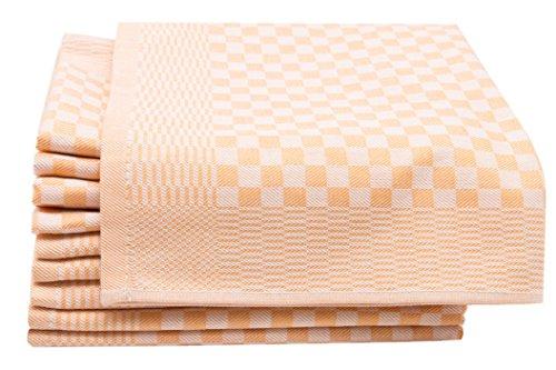 ZOLLNER 10er-Set Geschirrtücher, Vollzwirn, 100% Baumwolle, 46x70 cm, Gelb