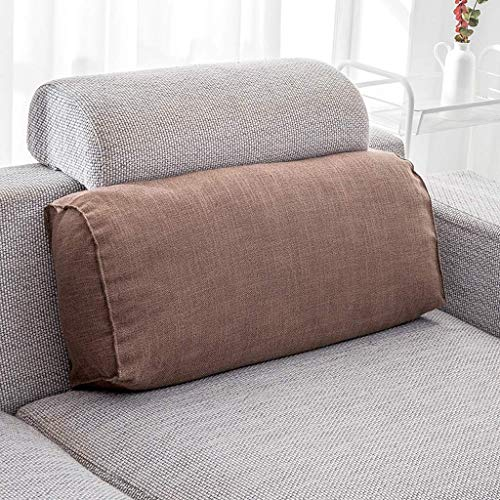 Reeseiy Zhaoshunli Kids Coussin Lombaire Maison Textile Casual Chic Tissu Lin Rectangle 65 * 29 * 17 Cm (Couleur Fleur Langue Bleu) (Color : Scrub Coffee, Size : Size)