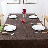 Tischdecke Rechteckige Tischdecken Baumwolle Leinen Einfaches Twill Tischdecke...