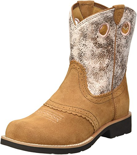 Kids' Fatbaby Cowgirl Western Boot (Little Kid/Big Kid), Powder Brown/Western Brown, 9.5 M US Toddler