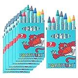 Gadget Compleanno Bambini Partituki. 20 Sets di 7 Pastelli a Cera Colorati. Regalini Pignatta Compleanno Bambini. Con Certificato CE di Non Tossicità