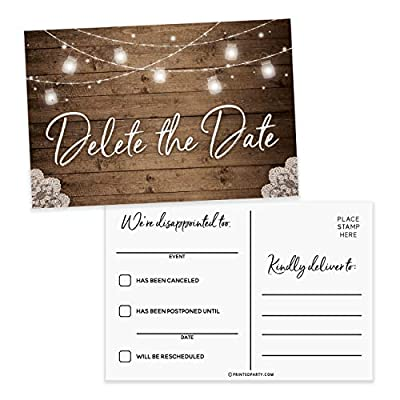 change of wedding date cards