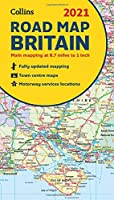 GB Map of Britain 2021: Folded Road Map (Collins Road Atlas)