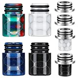 4 Pieces Resin 510 Connector Drip Screws Adaptor with 2 Pieces 810 to 510 Drip Tip Adapter Connector Ice Maker Coffee Machine Replacement Drip Tip (4 Colors)