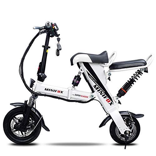 GXF-electric bicycle Bicicletta elettrica Pieghevole Telaio in Metallo Portatile Adulto Guida Bicicletta Batteria al Litio 36V Potente Motore brushless 20 km/h, autonomia di Crociera 70 km