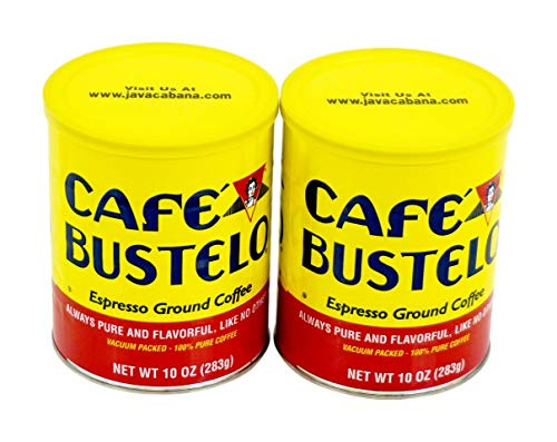 Cafe Bustelo Espresso Ground Coffee, Dark, Pure & Tasty, 10 Ounce (Pack Of 2)