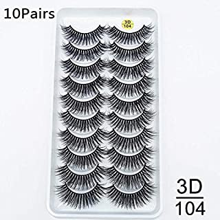 JSZWGC 5 / 10Pairs HandMade Mink Wimpers Make-up 3D Mink Lashes Natural lange valse wimpers Wimpers Extension 5 paar nep w...