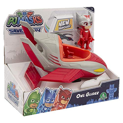 Giochi Preziosi - Pj Masks Jet C/Owlette Veicolo con Personaggio, PJMC1500