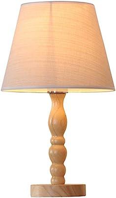 PAN Lampe de Chevet, Lampe de Table Minimaliste en Bois Massif