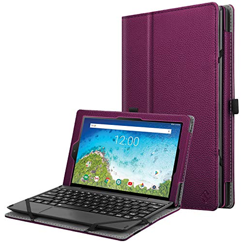 Fintie Case for RCA 10 Viking Pro RCT6A03W13 - Slim Fit Premium Vegan Leather Folio Protective Stand Cover with Pencil Holder for RCA Viking Pro 10.1 Inch 2-in-1 Tablet Laptop (Purple)