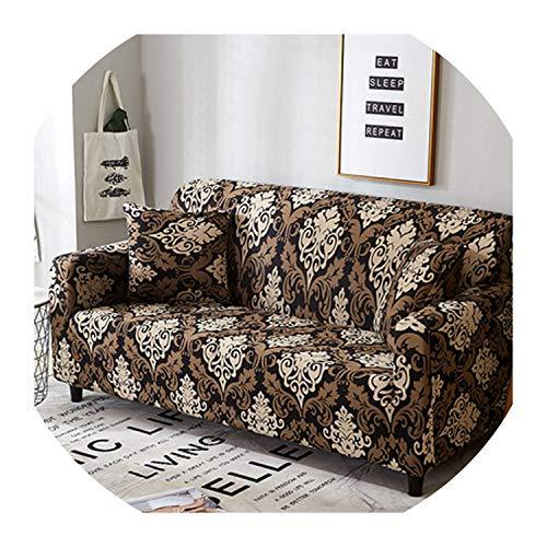 Nihaoma Feder-Muster-Sofa-Abdeckung Slipcover Sofa für Sofa Handtuch Wohnzimmer Möbel Protective Sessel Couches Sofa,6,2-Sitz und 3-Sitzer