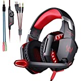 Mengshen Gaming Headset - With Mic, Volume Control and Cool LED Lights