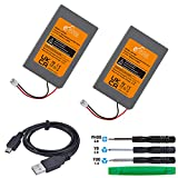 Pickle Power 1800mAh LIP1359 Battery Replacement for Sony PS3 Playstation 3 Controller + USB Charger Cable