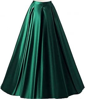 Diydress Women's Long Fashion High Waist A-Line Skirts W/Pockets