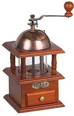 Manual Coffee Grinder Wooden Coffee Bean Spice Vintage Hand Grinder Coffee Mill Adjustable Coarseness Ceramic Mill
