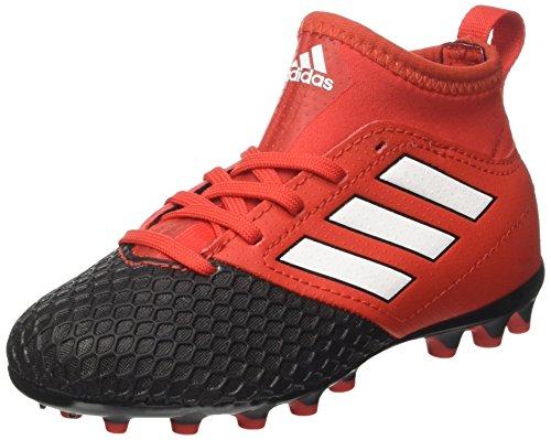 adidas Ace 17.3 Ag J, Botas de Fútbol Unisex Niños, Rojo/Negro, Rojo (Red/footwear White/core Black), 35 EU