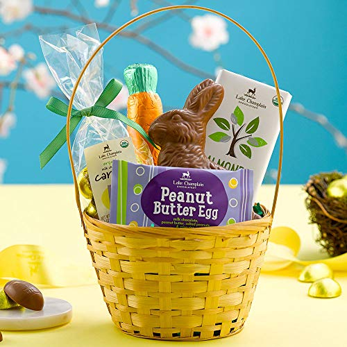 Lake Champlain Milk Chocolate Easter Gift Basket, 5 Pieces, 1.5 Pounds