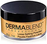 Dermablend Loose Setting Powder, Warm Saffron Face Powder Makeup for Medium, Tan, and Deep Skin Tones, Mattifying Finish and Shine Control, 1 oz.