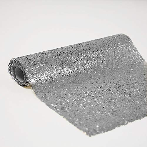 Kerstmis Glitter Roll Zilver/Goud Tafellopers Wrapping Swagging Bruiloft Decor