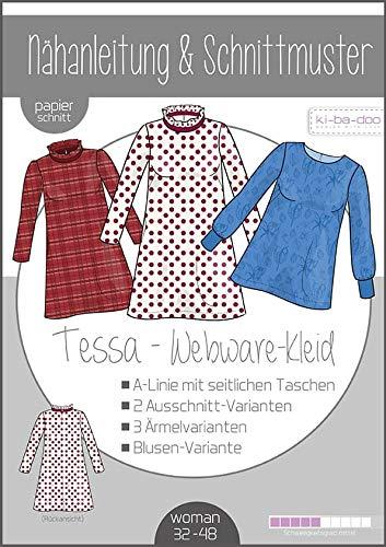 Schnittmuster kibadoo A-Linien Kleid/Tunika Tessa Papierschnittmuster