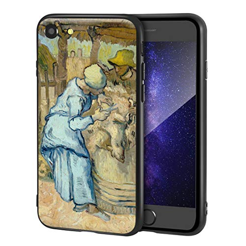 Vincent Van Gogh for iPhone SE(2020) / iPhone 7/8 Art Cellphone Case/Art Cellphone Case/Giclee UV Reproduction Print on Mobile Phone Cover(The Sheep Shearer)