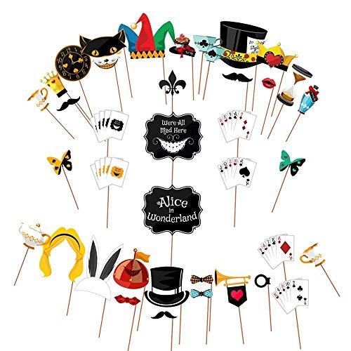 Alice im Wunderland Party Requisiten Betrieb Schilder für Mad Hatters Tee Party Riesiges Pack
