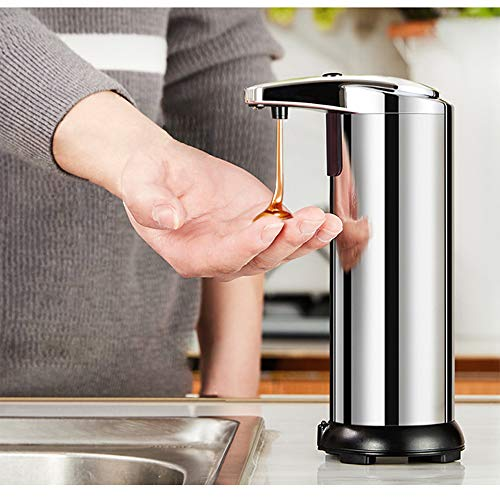 Kuzadan Automatic Soap Dispenser, soap Dispenser no Touch 250 ML Stainless Steel Touchless Lotion...