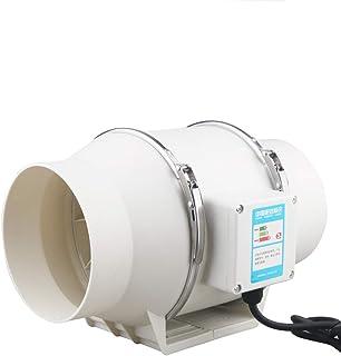 BoBoHome Ventilateur de Conduit Rotatif en Ligne Silencieux de 4 po Booster Ventilateur d'extraction d'air d'extraction Ve...