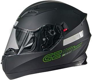 Capacete Texx G2 Solido Preto/Verde 58